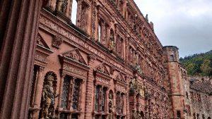 Fassade des Ottheinrichsbau im Heidelberger Schloss